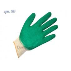 Перчатки х/б с латексным покрытием (одинарный облив) 13кл (Континент-Сити) (703)