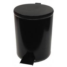 Урна офисная с педалью круглая (черная)