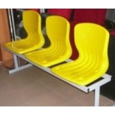 Скамейка с пластиковыми сидениями