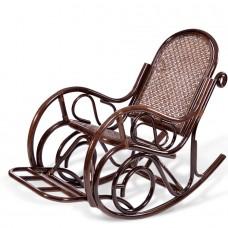 Кресло-качалка из ротанга 05/10B с подножкой