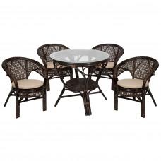 Комплект обеденный стол + 4 кресла