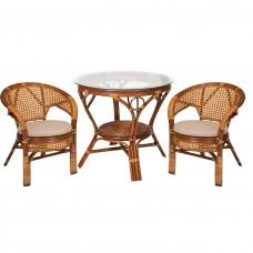 Комплект обеденный стол + 2 кресла