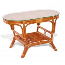 Стол со стеклом из ротанга 02/15A-ov